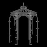 Gartenpavillon Siena pulverbeschichtet anthrazit