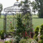Gartenpavillon Siena mit Rankgitter Rosa