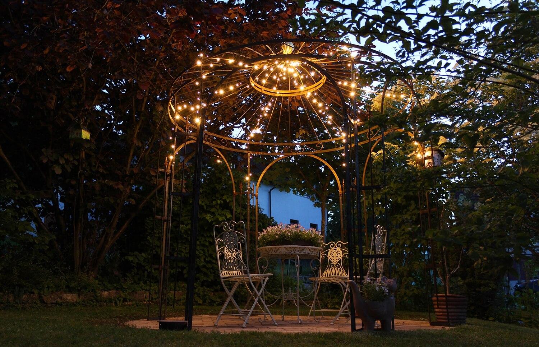 Gartenpavillon Milano, unbeschichtet mit Edelrost