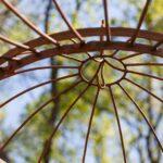 Gartenpavillon Milano, Detailansicht Kuppel, unbeschichtet (Edelrost)