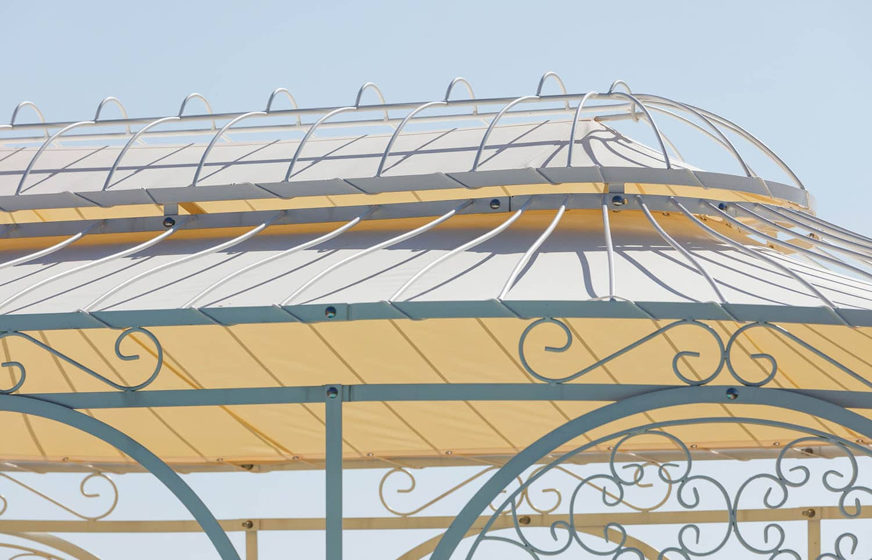 Gartenpavillon Verona mit Sonnensegel